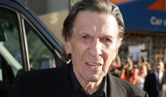 "Leonard Nimoy arrives at the LA premiere of ""Star Trek Into Darkness"" at The Dolby Theater on Tuesday, May 14, 2013 in Los Angeles. (Photo by Eric Charbonneau/Invision/AP)"