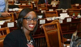 Georgia state Rep. Dar'shun Kendrick is under fire from conservatives on social media after she deleted a post from Facebook that said she wanted to slap Fox News contributor Stacey Dash. (Facebook/Dar'shun Kendrick)