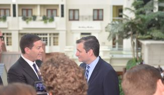 Sen. Ted Cruz grabs media attention. (Photo by Judson Phillips)