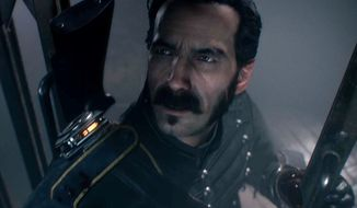 Sir Galahad is about to encounter a monster in the video game The Order: 1886.