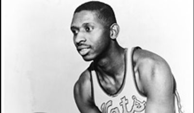 Earl Lloyd during his time with the Syracuse Nationals. Lloyd, the first black player in NBA history, died Thursday, Feb. 26, 2015. He was 86. Lloyd's alma mater, West Virginia State, confirmed the death. It did not provide details. Lloyd made his NBA debut in 1950 for the Washington Capitals, just before fellow black players Sweetwater Clifton and Chuck Cooper played their first games.