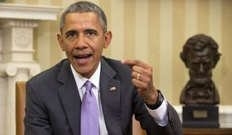 President Obama's amnesty order offered a number of different benefits to illegal immigrants, including expanding eligibility for his 2012 amnesty for Dreamers and boosting the amount of time he was granting an amnesty from deportation and permits for legal work from two years to three years. (Associated Press)