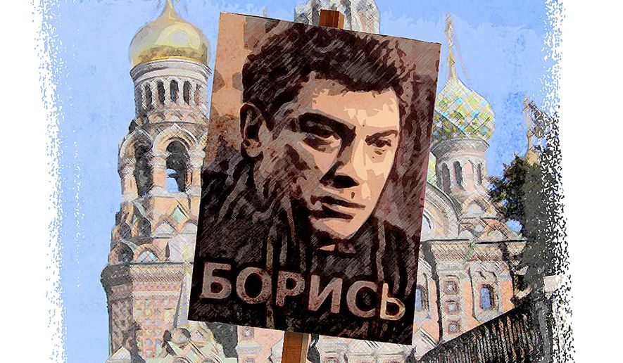 Nemtsov Memorial Poster Illustration by Greg Groesch/The Washington Times