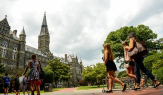 The Georgetown University campus, Washington, D.C.  (Andrew Harnik/The Washington Times)