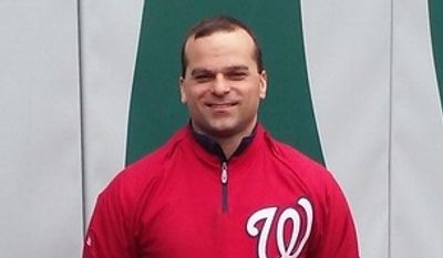 Washington Nationals director of field operations and head groundskeeper John Turnour poses for a photo at Nationals Park on Wednesday, March 4, 2015, in Washington. (Tom Schad/The Washington Times)
