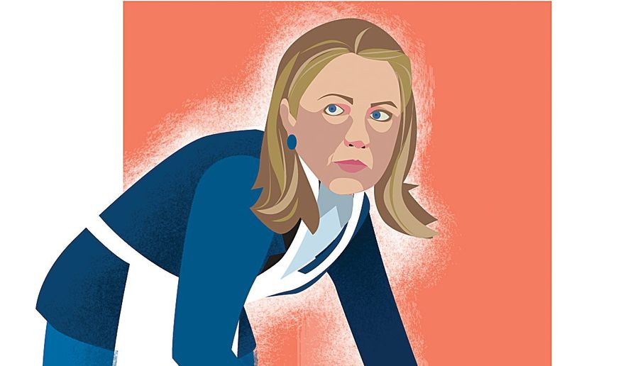 Hillary has Something to Hide Illustration by Linas Garsys/The Washington Times