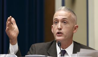 Rep. Trey Gowdy, South Carolina Republican, heads the House Select Committee on Benghazi. (Associated Press) ** FILE **
