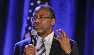 Ben Carson speaks in San Diego in this Jan. 15, 2015, file photo. (AP Photo/Lenny Ignelzi, File)