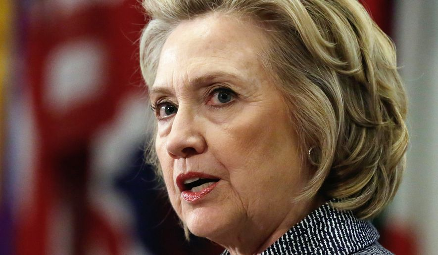 Answering questions for the first time about her emails, Hillary Rodham Clinton said she's turned over to the State Department 55,000 pages of emails she deemed work-related, but said she got rid of the rest last year. (Associated Press)