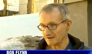 Bob Flynn, 70, was ticketed twice by the city of Flynn, Mass. for failing to shovel a sidewalk that doesn't exist. (Image: NBC Boston screenshot)
