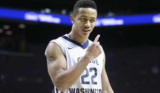 Joe McDonald scored 12 points in George Washington's 73-55 win over Duquesne 73-55 in the second round of the Atlantic 10 tournament Thursday night. (Associated Press)