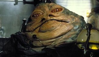 "Jabba the Hutt appears in 1983's ""Star Wars: Episode VI: Return of the Jedi."" (Image: 20th Century Fox)"