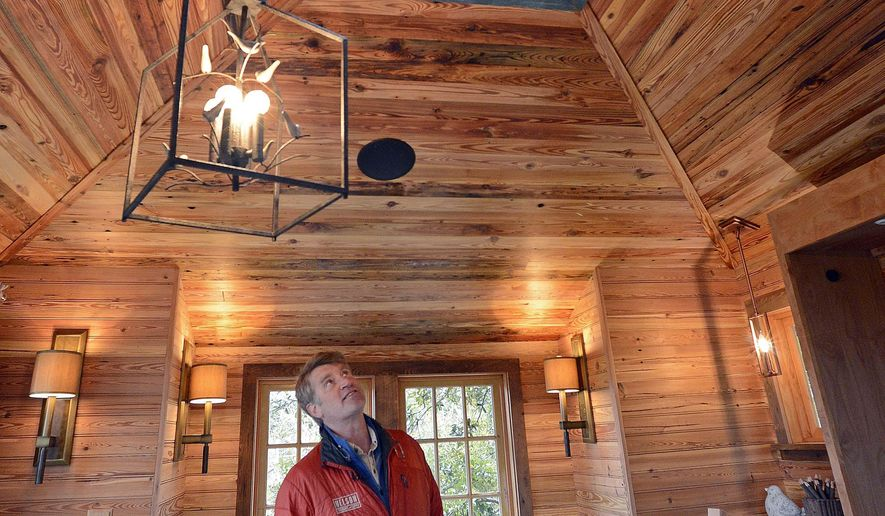The animal planet show treehouse masters host pete nelson talks about the disco ball in the - Treehouse masters interior ...