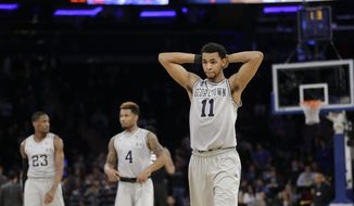 Isaac Copeland had 12 points and eight rebounds, and Georgetown held on to defeat Charlotte 62-59 on Tuesday night to snap a two-game losing streak. (AP Photo/Frank Franklin II) **FILE**