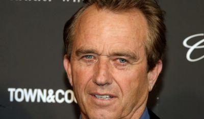 """Robert F. Kennedy Jr. is barnstorming states, talking to legislators and hosting screenings of the film """"Trace Amounts,"""" which ties a mercury-based preservative in some childhood vaccines to autism. (Associated Press)"""