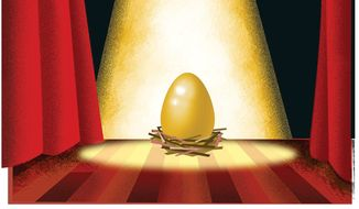 Illustration on shedding light on Federal pension records by Linas Garsys/The Washington Times