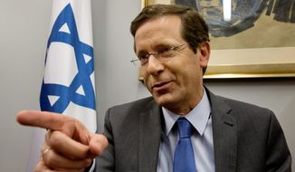 Isaac Herzog, leader of Israel's center-left Zionist Union, supports the idea of Palestinian statehood, has pledged to freeze construction of settlements in the West Bank and is intent on mending ties with the Obama administration. (Associated Press)