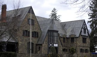 This Tuesday, March 17, 2015, photo shows The Kappa Delta Rho fraternity house at Penn State University in State College, Pa. The fraternity has been suspended as police investigate allegations that members used a private, invitation-only Facebook page to post photos of nude and partly nude women in sexual and other embarrassing positions, some apparently asleep or passed out.  (AP Photo/Centre Daily Times, Christopher Weddle)