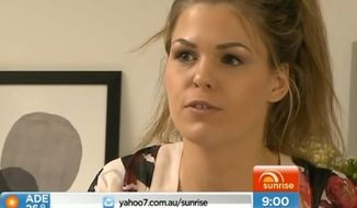 Australian wellness writer Belle Gibson, who built an online empire and sold a cookbook based on claims that a healthy diet cured her of cancer, has admitted for the first time that she never had the life-threatening disease. (Channel 7 Sunrise via Daily Mail) ** FILE **