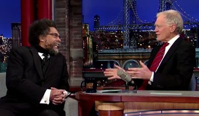 "Professor and civil rights activist Cornel West railed against President Obama Monday night in a ""Late Show"" appearance with David Letterman, declaring that ""we live in an age of the sellouts."" (YouTube/Late Show)"