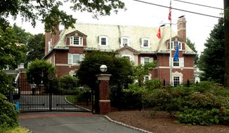 The Governor's Residence in Hartford, Conn., is shown Tuesday, June 22, 2004. (AP Photo/Bob Child)
