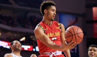 Freshman Melo Trimble, a native of Upper Marlboro, Maryland, has led the Maryland Terrapins to a 27-6 record and a No. 4 seed in the Midwest region of the NCAA tournament. (Associated Press)