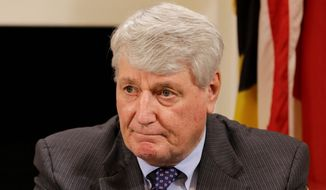 "Maryland House Speaker Michael Busch, Anne Arundel Democrat, said his chamber was ""open"" to dealing with the Senate bill nixing the rain-tax mandate. (Associated Press)"