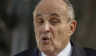 Former New York City Mayor Rudy Giuliani. (AP Photo/Damian Dovarganes, File)
