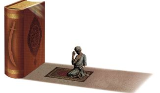 Illustration on the need for reform in Islam by Alexander Hunter/The Washington Times