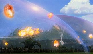 """Aerospace company Boeing has a patent for the """"Method and system for shock wave attenuation via electromagnetic arc,"""" which conjures up images of science fiction films like 1999's """"Star Wars: Episode I: The Phantom Menace."""" (image: LucasFilm)"""