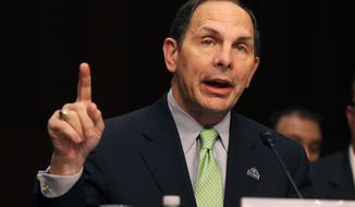 Veterans Affairs Secretary Robert McDonald testifies on Capitol Hill in Washington on Sept. 9, 2014. (Associated Press) **FILE**