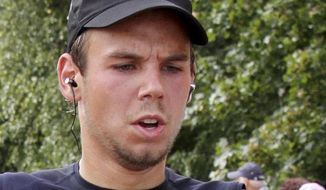 In this Sunday, Sept. 13, 2009 photo Andreas Lubitz competes at the Airportrun in Hamburg, northern Germany. Germanwings co-pilot Andreas Lubitz appears to have hidden evidence of an illness from his employers, including having been excused by a doctor from work the day he crashed a passenger plane into a mountain, prosecutors said Friday, March 27, 2015.  The evidence came from the search of Lubitz's homes in two German cities for an explanation of why he crashed the Airbus A320 into the French Alps, killing all 150 people on board. (AP Photo/Michael Mueller)