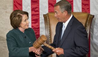 House Speaker John A. Boehner and Minority Leader Nancy Pelosi reached a rare bipartisan accord with last month's passage of H.R. 2, which reforms Medicare physician reimbursements. (Associated Press)