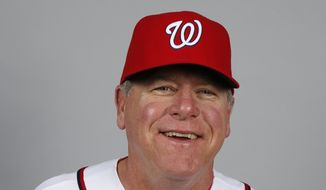 This is a 2014 photo of Spin Williams of the Washington Nationals baseball team. This image reflects the Nationals active roster as of, Sunday, Feb. 23, 2014, when this image was taken. (AP Photo/Alex Brandon)