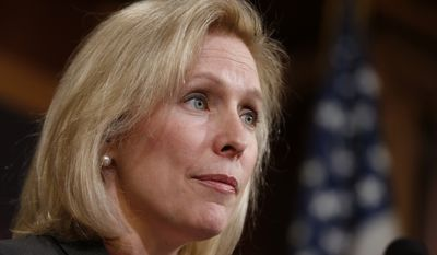 An initiative to strip commanders of their convening authority introduced by Sen. Kirsten E. Gillibrand, New York Democrat, failed to pass Congress last year.  (AP Photo)