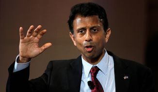 """Federal law is still the law of the land. It still needs to be enforced,"" said Louisiana Gov. Bobby Jindal, the only potential Republican presidential candidate to take a firm stance on legalization by some states of medical and recreational marijuana. (Associated Press)"