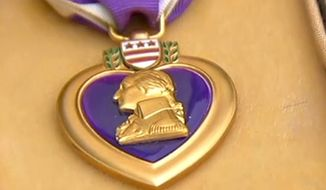 The Purple Heart. (Image: ABC News screenshot)