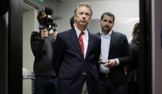 Sen. Rand Paul will strike a distinctly presidential pose when he announces his 2016 intentions on Tuesday. (Associated Press)