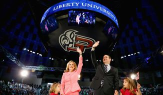 Sen. Ted Cruz commenced his GOP presidential campaign at Virginia's Liberty University, reinforcing the importance of evangelical voters to him. (Associated Press) **FILE**