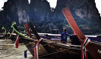 Thailand longboats (Photo by Lea Hutchins)