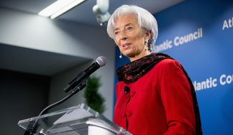 "International Monetary Fund Managing Director Christine Lagarde Thursday said that supporting the new China-sponsored development bank is a ""no-brainer."" The IMF joins the World Bank in support of the new bank over Obama administration reservations. (Associated Press)"