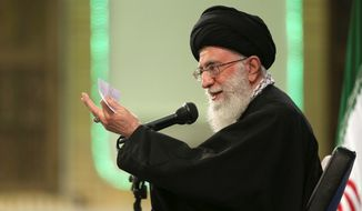 Iran's Supreme Leader Ayatollah Ali Khamenei took issues with key points on the framework of a nuclear deal including sanction relief and inspector access. (Associated Press)