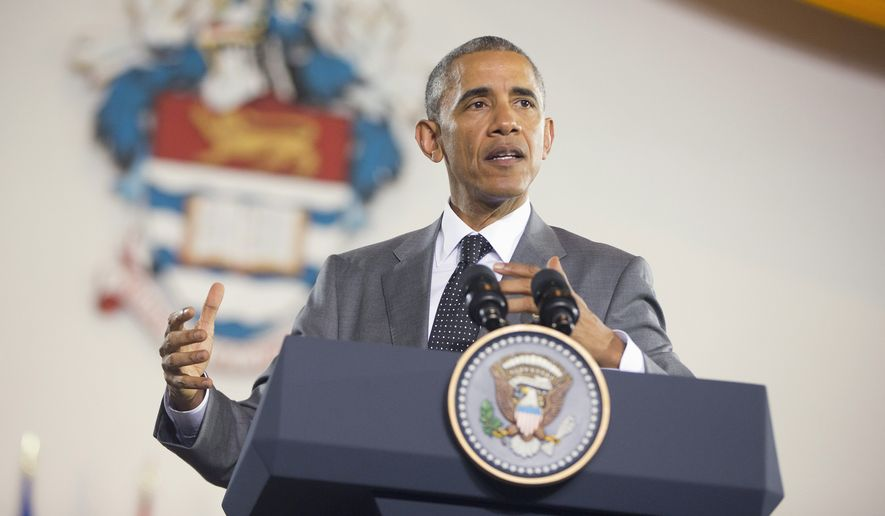 President Obama said Thursday in Jamaica that he will soon decide whether to remove Cuba from the U.S. list of state sponsors of terrorism now that the State Department has finished a review on the question. (Associated Press)