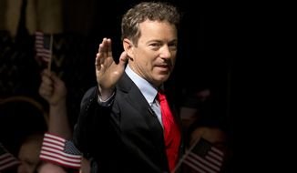 A Quinnipiac University poll released Thursday showed Sen. Rand Paul performing better against Hillary Rodham Clinton in Iowa and Colorado, both swing states, than did Mike Huckabee, former Florida Gov. Jeb Bush, Sen. Marco Rubio of Florida and Wisconsin Gov. Scott Walker. (Associated Press)