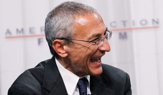 John Podesta, now chairman of Hillary Clinton for America, is on the team rebranding the Democratic Party's new presidential candidate. (Associated Press) ** FILE **