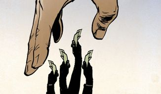 Illustration on taxation in America by Paul Tong/Tribune Content Agency