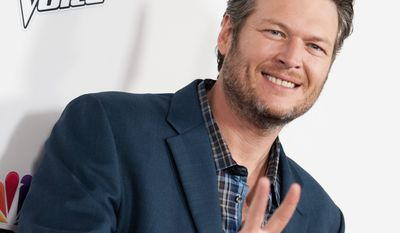 "Blake Shelton arrives at ""The Voice"" Red Carpet Event on Monday, Dec. 08, 2014, in Los Angeles. (Photo by Richard Shotwell/Invision/AP)"