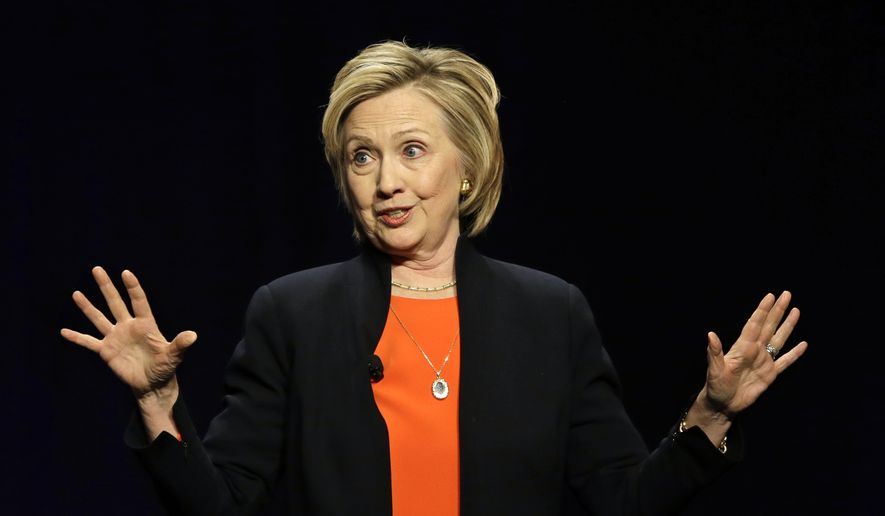 """Hillary Clinton tailored her recent presidential campaign launch to her liberal base, vowing to restore fairness to an economy where a """"CEO makes about 300 times what the average worker makes."""" (Associated Press)"""