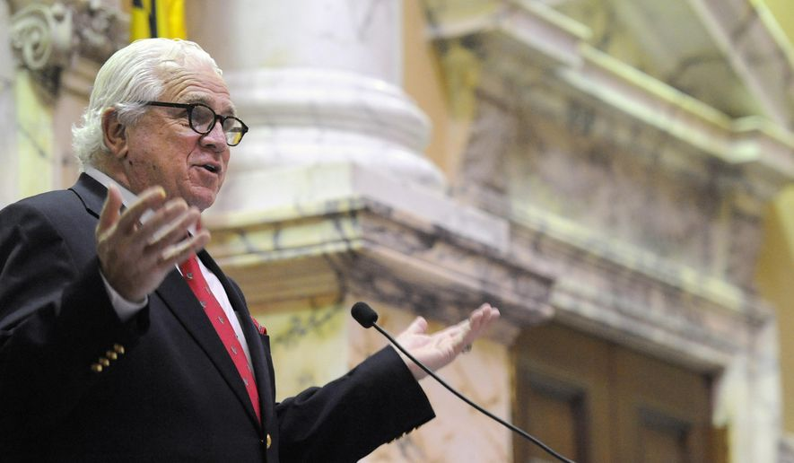 Maryland Senate President Thomas V. Mike Miller had another easy year with Gov. Larry Hogan's state budget. (Associated Press/File)