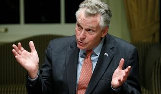 "During Wednesday's ""veto session,"" Virginia Gov. Terry McAuliffe is expected to move on several amendments, including one extending the time police may store license plate data to 60 days, a notion running afoul of privacy advocates. (Associated Press)"